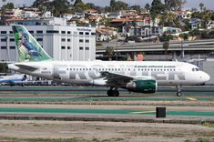 "Frontier Airlines ""Woody the Wood Duck"" at SAN on February 3, 2014."
