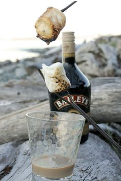 20 easy campfire Desserts | Bailey's Dipped Toasted Marshmallows
