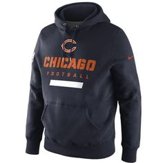 Nike Chicago Bears Property Of Pullover Hoodie - Navy Blue