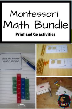 Montessori math resources for ages 3-12. All current and future Montessori math resources for preschool and elementary students at one price. Including activities for colored beads, place value and extensio