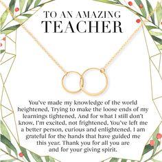 Tutor Coworker Mentor Gift Necklace: Gift for Boss Teacher Professor 2 Interlocking Circles