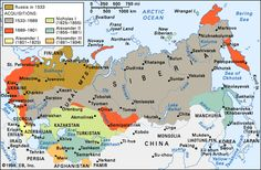 RUSSIAN EMPIRE IN 1894 ~ The Russian Empire at the turn of the century was huge. The United States could be dropped into it and still leave room for China and India. When his father died in November 1894, Tsar Nicholas II became the ruler of an empire that bordered Turkey, Persia, Afghanistan, Mongolia, and China while Poland, the Baltic States, and Finland were Russian territories. More than a hundred nationalities owed allegiance to him.