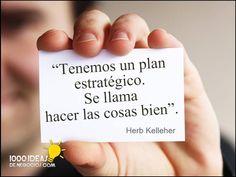 El mejor plan estratégico que he visto. #soyEmprendedor