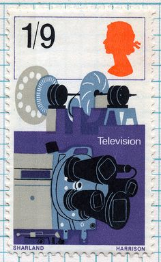 Royal Mail British postage stamp from 1967 featuring television