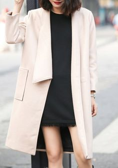 Simple Style Solid Color Turn-Down Collar Midi Wool Coat For Women http://www.sammydress.com/product2309335.html?lkid=311652?lkid=311652