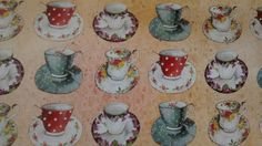 Love this pretty teacup paper!