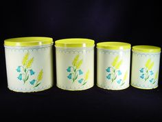 ~~Vintage NC Colorware Canister Set with Floral Motif~~