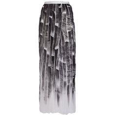 Aviù pleated long skirt (27.515 RUB) ❤ liked on Polyvore