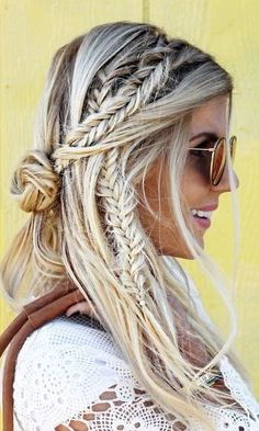 French braids, boxer braids, fishtail braids, these are what fashion girls are going to be wearing all Coachella and well into Summer...