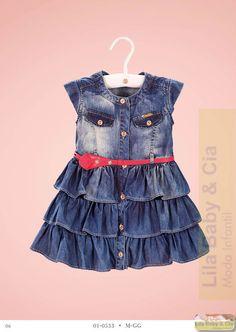 Vestido Jeans Diforini Baby - Lila Baby e Cia Moda Infantil
