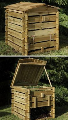 Buy Beehive Compost Bin by Forest Garden — The Worm that Turned - revitalising your outdoor space Wooden Compost Bin, Diy Compost Bin, Composting Bins, Compost Container, Forest Garden, Garden In The Woods, Garden Compost, Small Gardens, Plants
