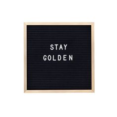 GOLD 10 x 10 inch Slotted Felt Letter Board with 3/4 by RIVICo