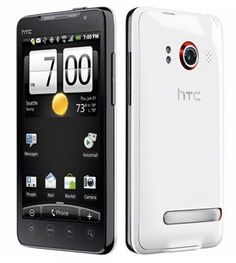 Includes: HTC Evo 4g (white) 4 hard cover phone cases (blue, black, purple, pink) 2 batteries (extended battery & regular battery) $99.75