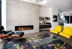 künstliches feuer -modernes wohnzimmer gestalten