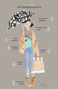 style guide ideas! Oh Joy | How I'd Wear Patterned Boots