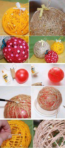diy, diy projects, diy craft, handmade, diy decorated thread ball na Dekoracyjnie - Zszywka.pl