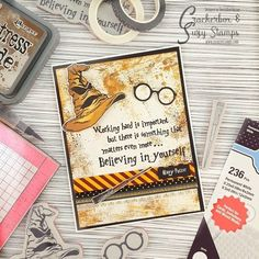 The Crackerbox & Suzy Stamps design team is thrilled to be hopping along with the My Sweet Petunia design team and featuring the star prod. Harry Potter Birthday Cards, Harry Potter Cards, Cumpleaños Harry Potter, Harry Potter Images, Petunia Tattoo, Hello Harry, Harry Potter Scrapbook, Anniversaire Harry Potter, Handmade Birthday Cards