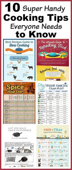 10 Superb INFOGRAPHICS on cooking that are full of kitchen tips and tricks that can make you an excellent cook. Check out!
