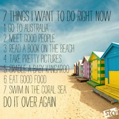 7 Things we want to do right now - Travel Quotes myfunlifeinternational.com