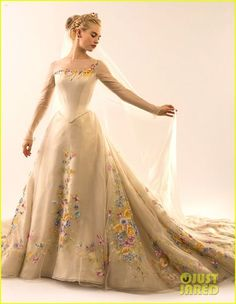 Loved this! See Lily James In Cinderella's Wedding Dress Now! | lily james cinderella wedding dress see pics 03 - Photo