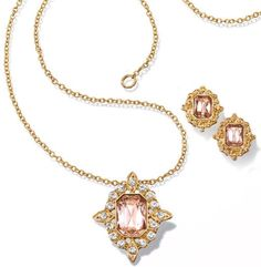 Blushing Necklace and Earring Set $19.99 - a rosy way to wake up your outfit! https://pylesvillestore.avonrepresentative.com #avon #avonpylesvillestore #jewelry