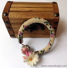 Beaded bracelet - Beaded Crochet Bracelet. $15.50, via Etsy.