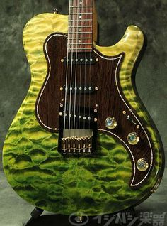 Knaggs Guitars Choptank Tier 1 in Faded Forest Green Quilt
