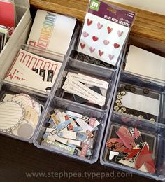 This may be why I'm so interested in PL - I will get to organize my stuff even more! ;)