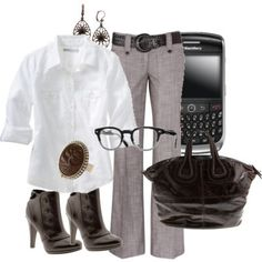 Fall Outfits For Work - Bing | http://best-work-outfit-styles.blogspot.com -- minus the crackberry haha