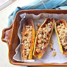 Spicy Squash Boats with Fruity Quinoa Pilaf #HealthyAperture