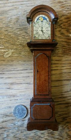 Tynietoy wooden grandfather clock dollhouse miniature furniture 1920s/40s #tynietoy