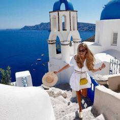 Image about girl in Santorini, Greece by Zorana Popovic Greece Vacation, Greece Travel, Greece Cruise, Travel Outfits, Vacation Outfits, Travel Pictures, Travel Photos, Greece Outfit, Outfits For Greece