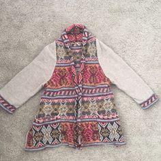 Free People Fair-Isle Cardigan In great condition! Very little wear. 84% wool 16% nylon Free People Sweaters Cardigans