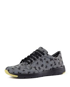 Brava Reflective Leopard-Print Trainer by Gucci at Neiman Marcus.