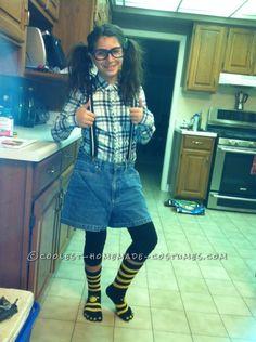 last minute homemade nerd costume