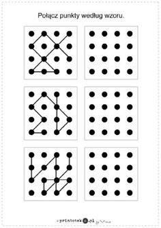 Łączenie punktów według wzoru. Wariant 3 - Printoteka.pl