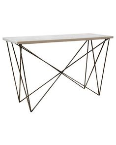 George Console with White Resin
