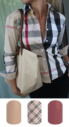 A Burberry Shirt glams up any outfit Burberry Shirt, Burberry Plaid, Burberry Classic, Burberry Clothing, Burberry Dress, Looks Style, Style Me, Bcbg, Look Fashion