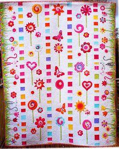 Rainbow Lollipops Beautiful Applique Quilt Pattern | eBay