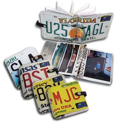 creative ideas for using old license plates