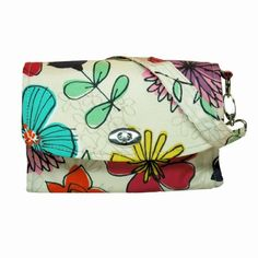 LillyBit Uptown Diaper Clutch - Watercolor Floral