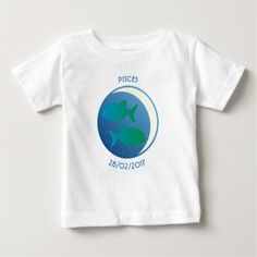 Star Sign Baby T-shirt Pisces - baby gifts child new born gift idea diy cyo special unique design