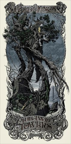 The+Lord+Of+The+Rings+-+The+Two+Towers+by+Aaron+Horkey+(Regular).jpg (493×999)