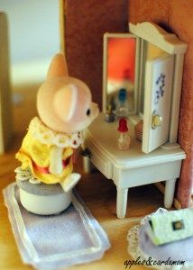 How to make a sweet Calico Critter house for a fraction of the cost of buying one.