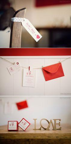 Inspiración para una boda en blanco y rojo. Valentine's Wedding inspiration.