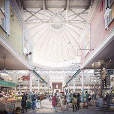 Forbes Massie / 3D Visualisation Studio / London - Work - Cathedral Group / Smithfield Market