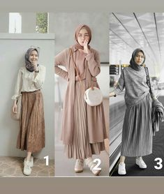 Personal I like the do you like? Personal I like the 1 Seseneng itu dapet rok putih plisket yg pas dipake dibadan 😭😭, maacihhh @ 😍😘 リネンキャミワンピース / GREY Modern Hijab Fashion, Street Hijab Fashion, Hijab Fashion Inspiration, Muslim Fashion, Modest Fashion, Look Fashion, Skirt Fashion, Fashion Outfits, Fashion Muslimah