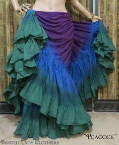 """Peacock"" 25 Yard OoLaLa Skirt"