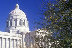 Missouri State Capitol building in Jefferson City.