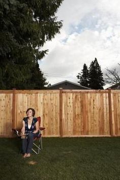 No one needs to know that your wood fence is supported by metal posts.